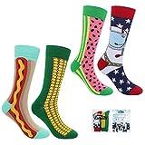 ECOMBOS Herren Socken Bunt - Baumwolle Socken Herren, Gemusterte Socken Muster Lustige Socken, Modische Socken Mehrfarbig Klassisch Baumwolle 38-45 - Mais
