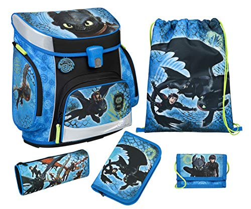 Dragons Schulranzen Set 5 teilig DRRA8253 Scooli Campus FIT Undercover Ranzen