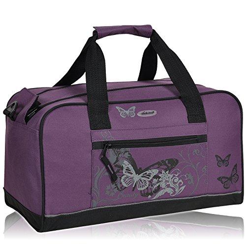Sporttasche FABRIZIO SELECTION Schulsporttasche Tasche [ 4 FARBEN AUSWAHL ] Butterfly Lila