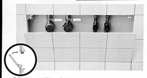 Upmann Fliesenklappen Beschlag, komplett für Klappen bis 0,4 m², 1 Stück, 80620 (Co-klappe)