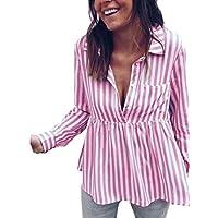 Blusas Mujer, ASHOP Casual a Rayas Suelto Sudaderas Moda Elegantes Ropa en Oferta Camisetas Manga Larga Tops de Fiesta Abrigos Invierno de Mujer Otoño