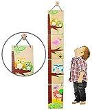 Unbekannt 3-D Meßlatte - aus Holz -  lustige Eule  - zum Klappen / Falten - von 80 cm bis 155 cm - Kinderzimmer - für Kinder Kind - Eulen & Blumen - Holzmeßlatte - Ti..