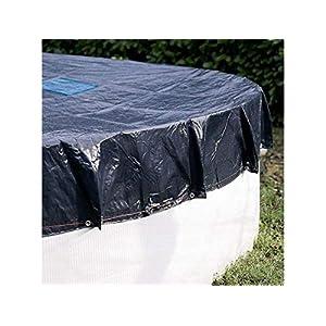 Telone da piscina rotondo diametro 6,20m (con rete di drenaggio)-Copertura piscina-Telone impermeabile