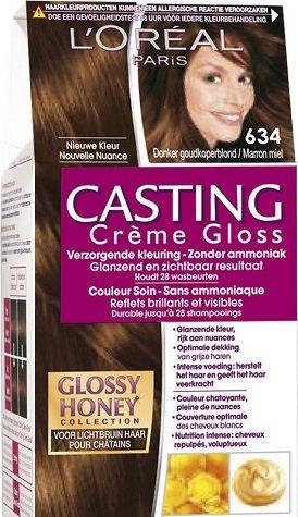 L'Oréal Paris Casting Crème Gloss 634 Honig Keks Dunkel Gold Kupfer Blonde - Haarfärbemitteln