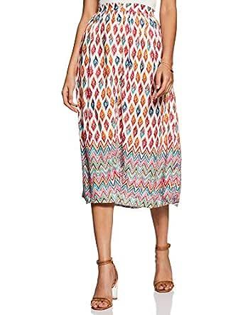 global desi Women's A-Line Midi Skirt