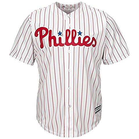 Majestic philadelphia phillies cool base de maillot de baseball mLB domicile Blanc Blanc L