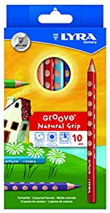 Lyra Groove Jumbo Colouring Pencils in Cardboard Case K055Lacquered 3811050