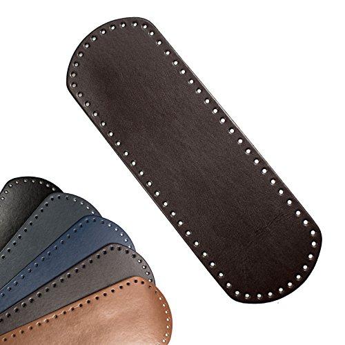 maDDma ® 1 Taschenboden Kunstleder zur Taschenherstellung Farbe/Größe Wählbar, Farbe:Dunkelbraun, Größe:12x36cm