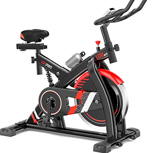 WBaRJ Indoor Cycling Heimtrainer, Spinning Bike, Herzfrequenzsensoren, Verstellbarer Sitz