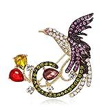 Olydmsky Brosche Tier Vogel Brosche Natürliche Phoenix Brosche Weibliche Kleidung Zubehör Party Kleid Zubehör