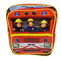 Trade Mark Collections Fireman Sam Square Back Pack (Red)