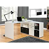 Stunning New Adjustable Corner Computer Desk With Shelves And Drawers Home Office Furniture Desktop Workstation Available In White/Black/Oak by