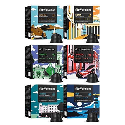 FRHOME - 96 Cápsulas de café compatibles con maquinas Dolce Gusto® - kit degustación de Il Caffè...