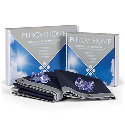 Purovi® Thermo Sonnenschutz Für Dachfenster | Verschiedene Größen | Uv Schutz | 57 X 99cm Kompatibel Velux 045 Y45