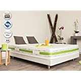 matelas latex 100 naturel 140x190 novopur cuisine maison. Black Bedroom Furniture Sets. Home Design Ideas