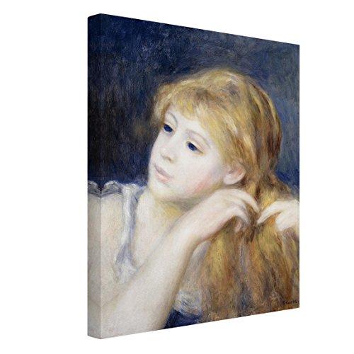 Bilderwelten Leinwandbild - Auguste Renoir - Kopf eines Jungen Mädchens - Hoch 4:3, 40 x 30cm