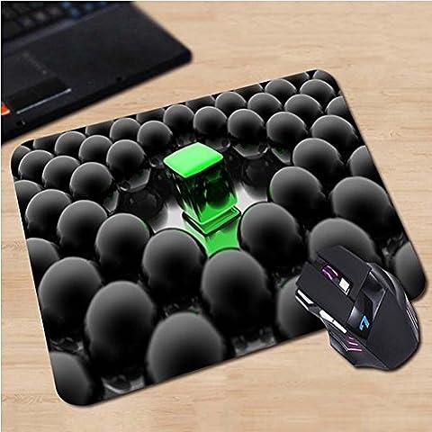schwarze Kugeln und güner Würfel modernes Designer Mauspad Anti-Rutsch, Wasserfest 220x180 Veredeln Sie Ihren Schreibtisch mit diesem eleganten Mauspad