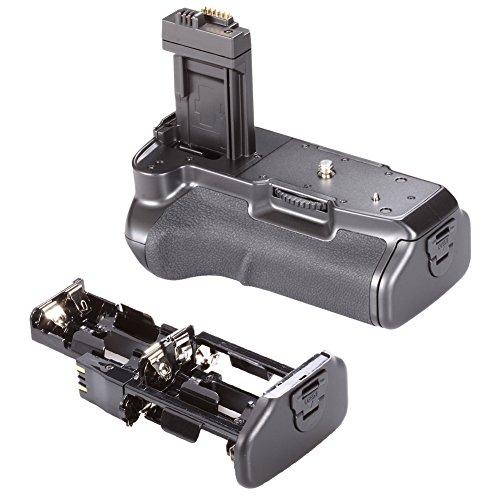 Neewer® Batteria Impugnatura Professionale Ricambio di BG-E5 Funziona con Batteria LP-E5 + Supporto Batteria per Batteria AA + Supporto Batteria per Canon EOS 450D 500D 1000D Rebel XS XSi T1i
