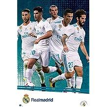 Póster Real Madrid - Equipo/Jugadores [Temporada 2017/18] (61cm x 91,5cm) + 1 póster sorpresa de regalo