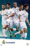 Close Up Real Madrid Poster Mannschaft Saison 2017/18 (61cm x 91,5cm) + Original tesa Powerstrips® (1 Pack/20 STK.)