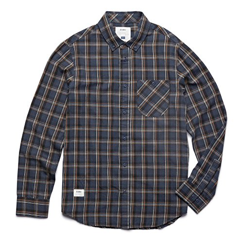 Altamont Erwachsene Shirt Willy Pete L/S Flannel Hemd, Navy, M (LangÄrmeliges Button-up-shirt)