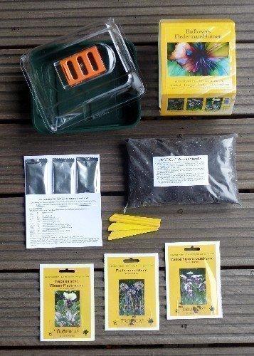Tropica - Anzuchtset - Fledermausblumen mit Samen, Anzuchtsubstrat, Dünger und Gewächshaus