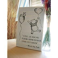Cuadros de madera con mensajes para alegrarte el día.