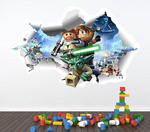 LEGO STARWARS FULL COLOUR WALL STICKER   GIRLS BOYS DISNEY BEDROOM C356  Size: Large: Amazon.co.uk: Kitchen U0026 Home Part 2