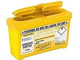Sharpsguard Bin, 1litro, giallo, confezione da 2