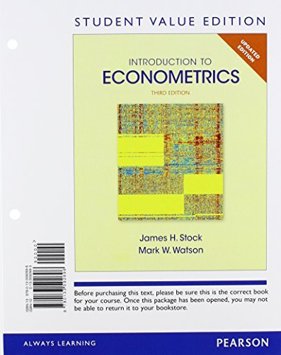 Introduction to Econometrics, Update, Student Value Edition (3rd Edition) by James H W Stock (2014-07-28)