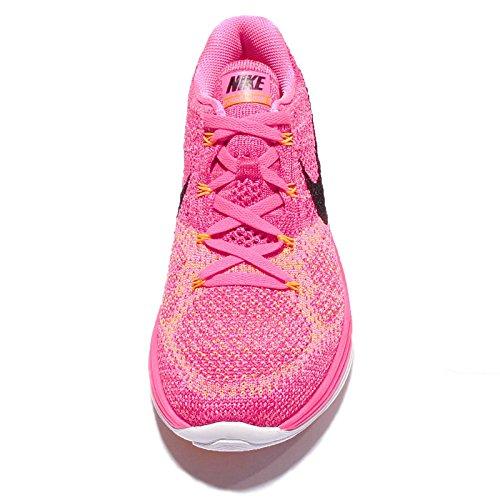 NikeFlyknit Lunar3 - Scarpe Running Donna Rosa (Rosa (Pnk Blast / Blck-Frbrry-Lsr Orng))
