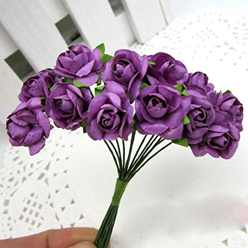 Eva Foam Paper Handmade - 2019 C Arrival Purple 144x Handmade Artificial Paper Rose Flower Buds Party Wedding Bouquet - Flower Decorations Gold Bouquet Decoration Wedding Buds