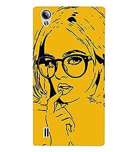Girl with Glasses Hard Polycarbonate Designer Back Case Cover for Vivo Y15S :: Vivo Y15
