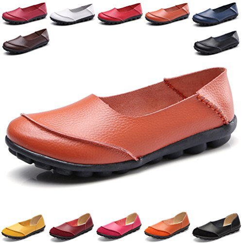 Antideslizante Para De Barco Zapatos Mujer Conducción Cómodo Hishoes Mocasín Cuero Loafers Y yfIYb76gv