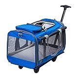 XSJ-Zaini Portatile Zaino rotolamento dell'animale Domestico Carrier Bag Dog Cat con Carrello Integrato e Maniglia telescopica, Borsa da Viaggio per Passeggino da Viaggio