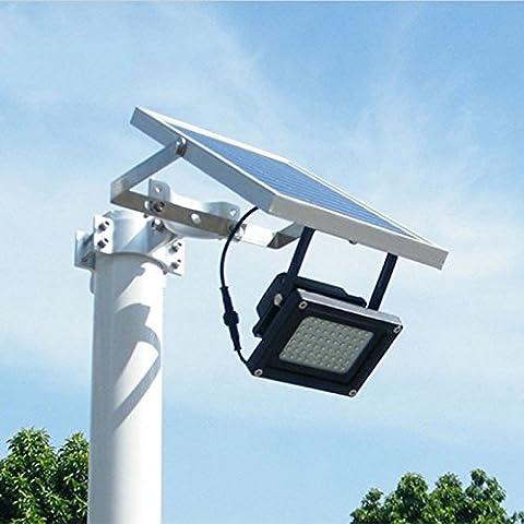 Projecteur solaire, 54LED, lampe de sécurité pour extérieur; pelouse, jardin, paysage, hôtel, piscine, bassin, etc..