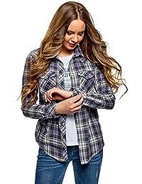 itPantaloni Bluse Donna Quadretti ShirtTop T E A Amazon sdtrCQh