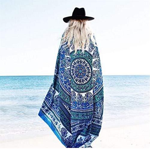 Sommer Damen Chiffon Quadrat Europa und Amerika Mantel weiblichen Schal Strandtuch B 150 * 150cm -