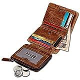 Echtes Leder Herren Geldbörse Anti-RFID