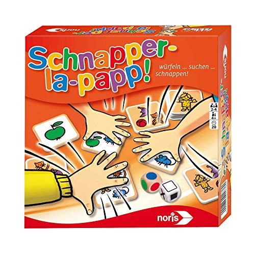 "Noris Kinderspiele 606011638\"" Schnapper-la-Papp Spiel"
