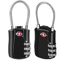 Suitcase Locks BeskooHome Luggage Locks - TSA Approved Luggage Locks, Zinc Alloy Security Padlock, 3-Dial Combination Padlock for Luggage, Suitcases, Backpacks, Duffle Bag Laptop Camera Bag - 2 Pack