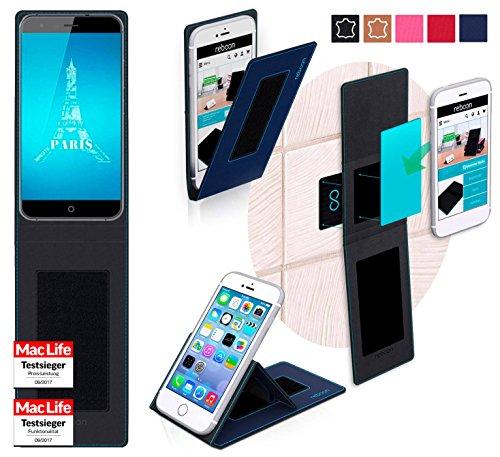 reboon Hülle für Ulefone Paris X Tasche Cover Case Bumper | Blau | Testsieger