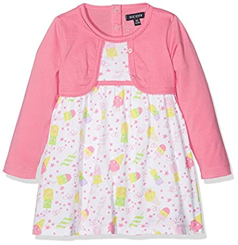 BLUE SEVEN Baby-Mädchen Mini Md Kleid m Fake Bolero, Rosa
