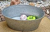 Maison en France Zinkwanne - Länge 56 cm- stabile Zinkwanne praktisch+wasserdicht- Zinkwanne für den Garten,