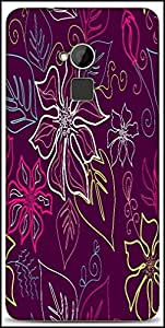 Snoogg Seamless Aloha Pattern Designer Protective Back Case Cover For HTC One-Max