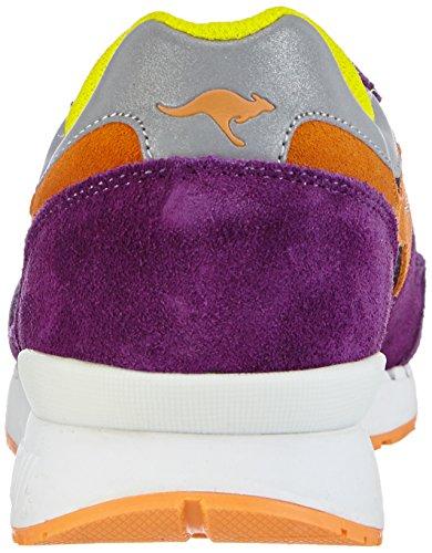 KangaROOS Coil-R1-Multi Unisex-Erwachsene Sneakers Mehrfarbig (lilac/blk/attention 657)