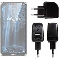 DURAGADGET Cargador con Enchufe Europeo para Smartphone Nokia 2.1, Nokia 3.1, Nokia 5.1 -
