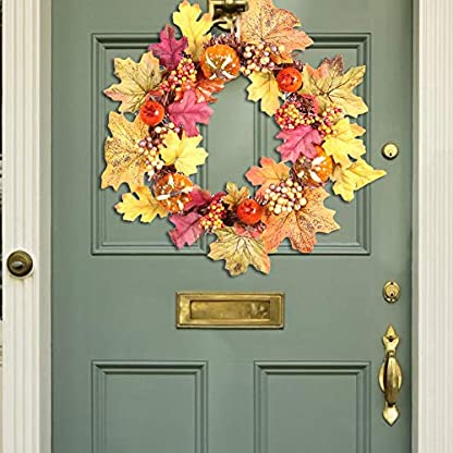 Maliyaw-Dekorative-Tr-Kranz-Anhnger-Krbis-Tannenzapfen-Ahornblatt-Kranz-fr-Halloween-Thanksgiving-Weihnachten-Home-Supplies