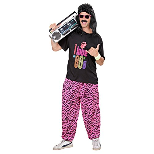 Kostüm Party Bad Taste (80er Jahre Trainingshose Zebra Jogginghose M/L 48 bis 52 80s Outfit Verkleidung Trainingsanzug Hose Jogginganzug Bad Tast Kostüm)