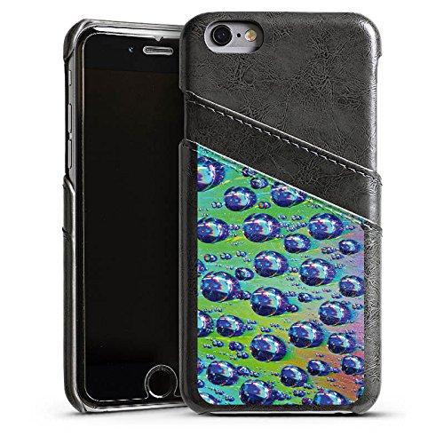 Apple iPhone 6 Housse Étui Silicone Coque Protection Gouttes Lumière Eau Étui en cuir gris